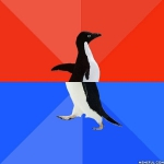 Socially Awesome and Awkward Penguin