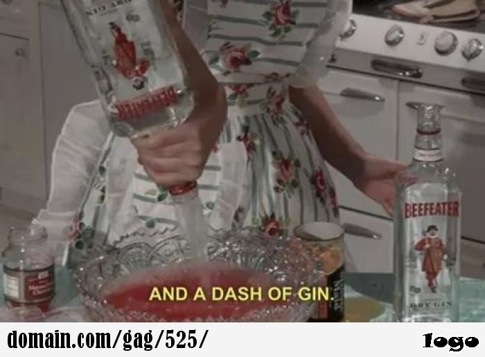 and a dash of gin