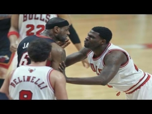 Lebron James Pushed Down #Lebron #Miami Heat